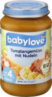 babylove Babymenü Tomatengemüse mit Nudeln nach dem 4. Monat