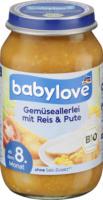 babylove Menü Gemüseallerlei mit Reis & Pute ab dem 8. Monat