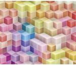 Komar Vlies-Fototapete Happy Blocks, 3-teilig, 300x250 cm