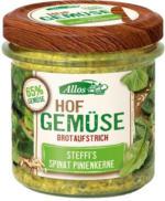 Allos Hofgemüse Steffi`s Spinat-Pinienkerne