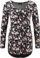 Damen Langarmshirt mit Blumenprint