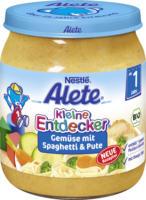 Alete Kleine Entdecker Gemüse mit Spaghetti & Pute ab 1 Jahr