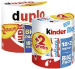 Duplo, Kinderriegel 18er + 2 gratis oder Kinder Schoko Bons 300 g jede 364/420/300-g-Packung