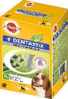 Pedigree Snack für Hunde, Zahnpflege DentaStix Tägliche Frische, für mittelgroße Hunde, Multipack 4x7 Stück