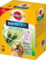 Pedigree Snack für Hunde, Zahnpflege DentaStix Tägliche Frische, für große Hunde, Multipack 4x7 Stück