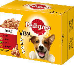 Pedigree Nassfutter für Hunde, Adult Auswahl in Gelee, Multipack, 12x100g