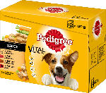 Pedigree Nassfutter für Hunde, Adult Auswahl in Sauce, Multipack, 12x100g