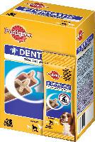 Pedigree Snack für Hunde, DentaStix Tägliche Zahnpflege,für mittelgroße Hunde, Multipack 4x7 Stück
