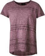 Damen T-Shirt mit offener Lochspitze