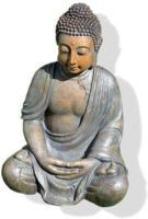 ROLLER Buddha-Figur - grau-beige - 40 cm hoch