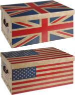 ROLLER Aufbewahrungsbox - Union Jack / USA - keine Motivauswahl