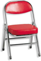 ROLLER Kinderstuhl, Kinderklappstuhl RBT -rot