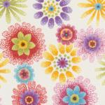 ROLLER Vliestapete - weiß - buntes Blumendekor - 10 Meter
