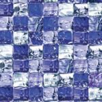 ROLLER d-c-fix Glasfolie, Klebefolie ICE Cube - blau-weiß - 45x150 cm