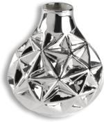 ROLLER Vase - silber - Porzellan