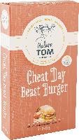 Nature Tom Fertiggericht Burger cheat day beast, vegetarische Bratlinge auf Basis von Weizen- & Sojaeiweiß