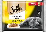 Sheba Nassfutter für Katzen, Selection in Sauce (Huhn, Truthahn, Ente, Geflügel)