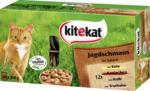 kitekat Nassfutter für Katzen, Jagdschmaus in Sauce, Multipack, 48x100g