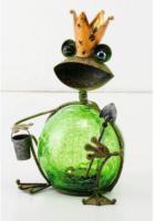 Solar-Froschkönig 19x12x22 cm, grün
