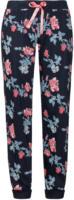 Damen Pyjamahose mit Blumenmuster