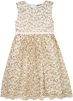 Mädchen Kleid 3-lagig mit besticktem Tüll