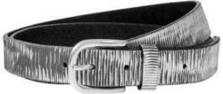 Cooler Metallic-Ledergürtel