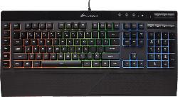 Gaming Tastaturen - CORSAIR K55 RGB, Gaming Tastatur, Rubberdome