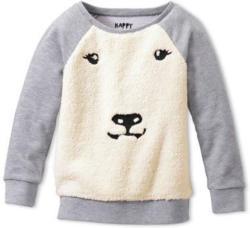 Sweatshirt mit Plüsch-Eisbär
