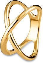 Silberring gekreuzt »Pure Collection«, vergoldet