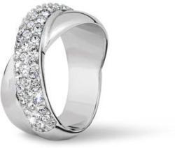 store on feet shots of fast delivery Ring »Gekreuzt« mit Swarovski® Kristallen