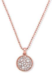 Silberkette »Kreis« mit Zirkonia*, rosévergoldet