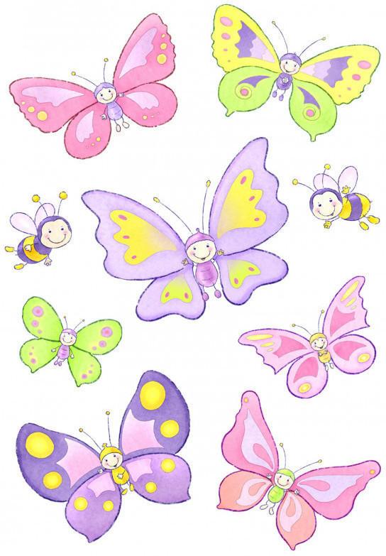 Haftbild A4 Schmetterling Heitmann 64187