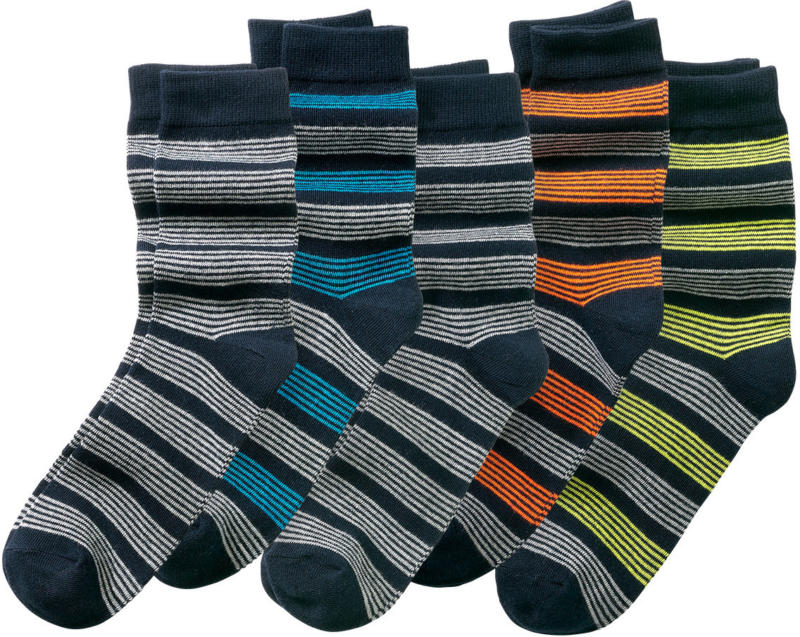 5 Paar Jungen Socken mit Ringeln