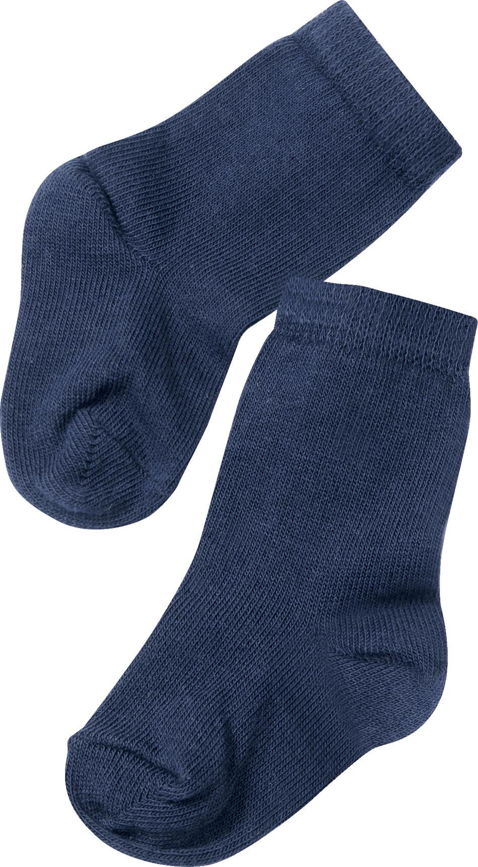 612f60d15d ALANA Baby-Söckchen, Gr. 19/22, in Bio-Baumwolle und Elasthan, blau ...