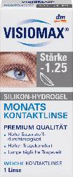 VISIOMAX Silikon-Hydrogel Monatskontaktlinse - 1,25