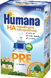 Humana Hypoallergene Anfangsnahrung Pre von Geburt an