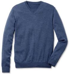 Merino-Pullover mit V-Neck