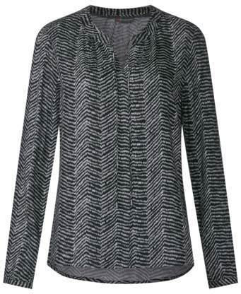 Print Bluse im Tunika-Style