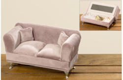 Schmuckbox Sofa 23x12x9,5 cm in rosa
