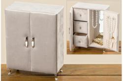 Schmuckbox Schrank 22x17x7 cm taupe