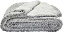 Kuschelige Wendedecke in weiß-grau Größe: 150x200 cm