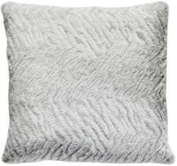 Kuscheliges Deko-Kissen 50x50 cm in hellgrau-weiß