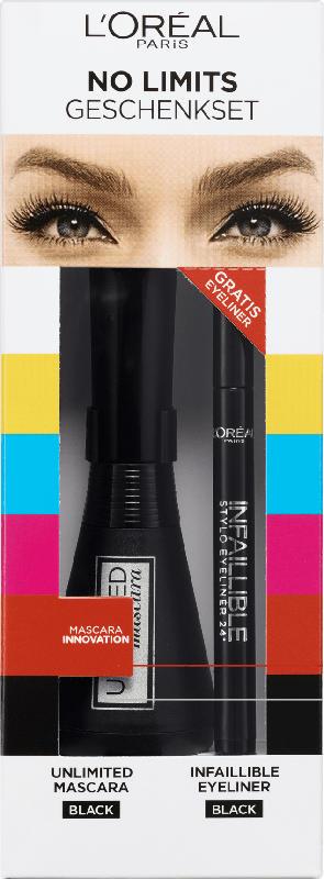 L'ORÉAL PARIS Geschenkset Unlimited Mascara + Eyeliner Infaillible black 301