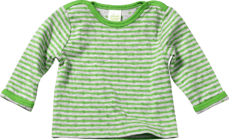 ALANA Baby-Sweatshirt, Gr. 74, in Bio-Baumwolle, grün, grau, für Mädchen und Jungen