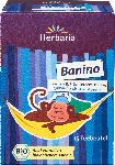 dm-drogerie markt Herbaria Kräuter- & Früchte-Tee, Banino mit Anis, Kamille, Banane & Lavendel, für Kinder, Abend-Tee (15x1,8g)