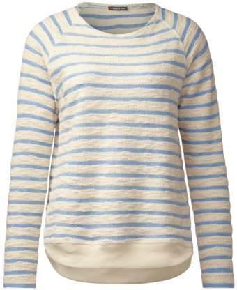 Bouclé Streifen Pullover