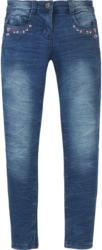 Mädchen Skinny-Jeans mit Stickerrei