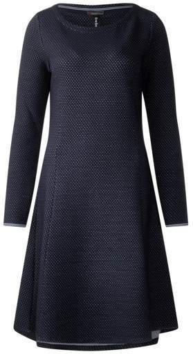 Struktur-Punkte-Print Kleid
