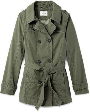 Damen-Kurz-Trenchcoat