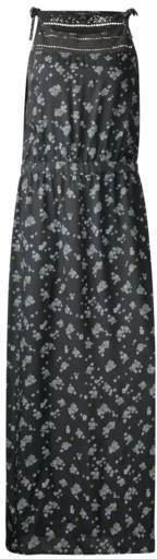 Blumenprint Maxi Kleid
